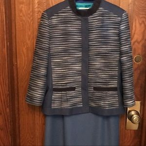2 pc. Dress set, printed jacket and solid dress